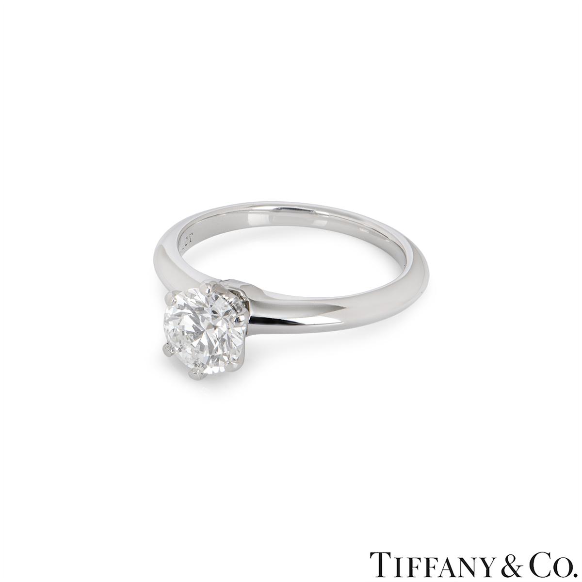 Tiffany & Co. Platinum Diamond Setting Ring 1.11ct H/VS1